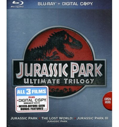 Jurassic Park Ultimate Trilogy Pack Blu-Ray